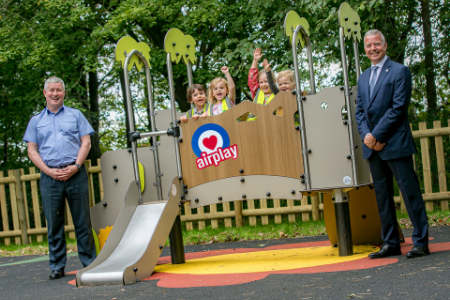 RAF College Cranwell childrenat Airplay play parks