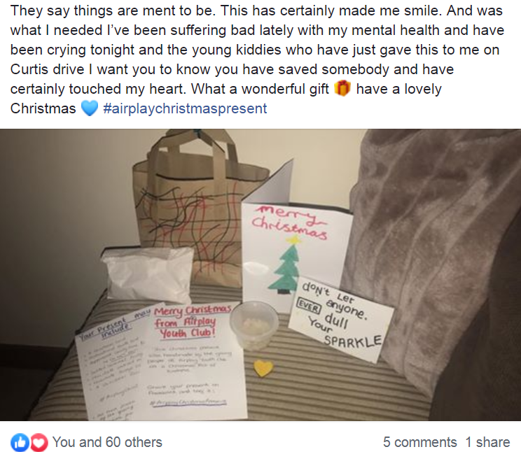 Christmas gifts feedback